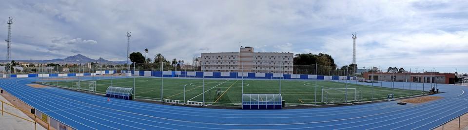 pista atletismo panoramica