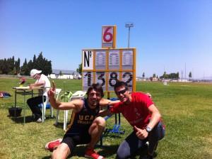 Antonio andujar con Jose Luis alaves, mínima mundial